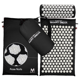 SMART GEAR Acupressure Yoga Mat and Pillow with Free Bag