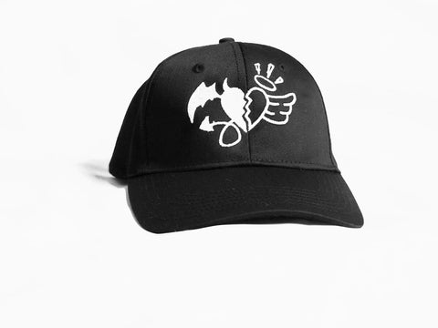 Dad Hat Black with DNA Heart Logo