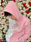 """Strawberry Milk"" Split Hoodie"