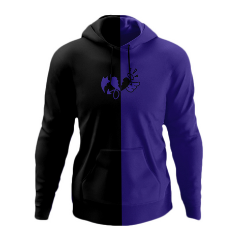 "Purple and Black ""Grape Split Hoodie"""
