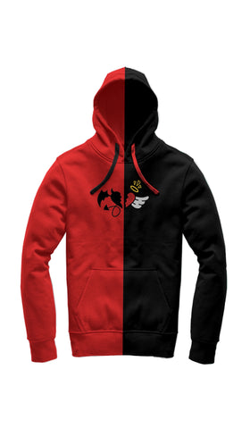 Red and Black Split hoodie