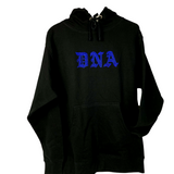 """ROYAL BLUE"" RHINESTONE DNA WEB HOODIE"