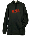 """RUBY RED"" RHINESTONE DNA WEB HOODIE"