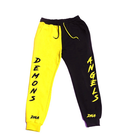 "Yellow and Black Inverted ""Banana Split Pants"""