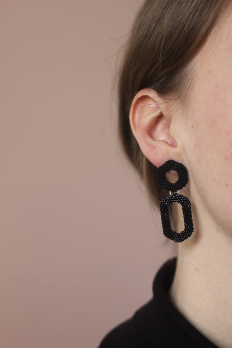 Drop Earring - Black