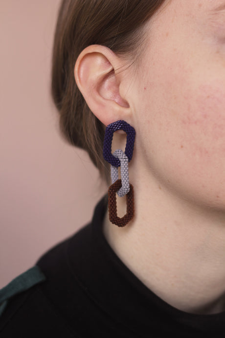 Triple Link Earring