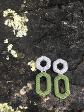Load image into Gallery viewer, Drop Earring - Grey & Green