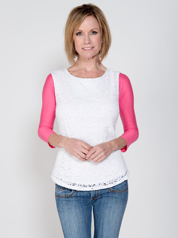 Basic 3/4 Sleeve Pink Jersey