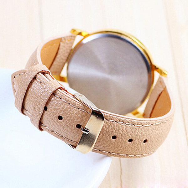 4 Color watch Leather Floral Printed Anchor