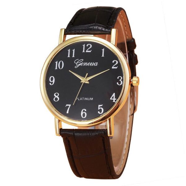 Business Fashion PU Leather Watches
