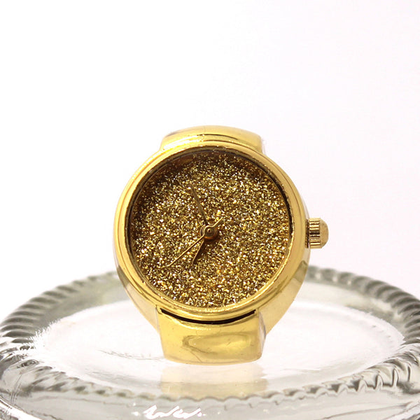 Gold Sliver Creative Stainless Steel Finger Ring Watch