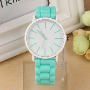 GENVIVIA Watch Candy Color Silicone Rubber Wrist Watch