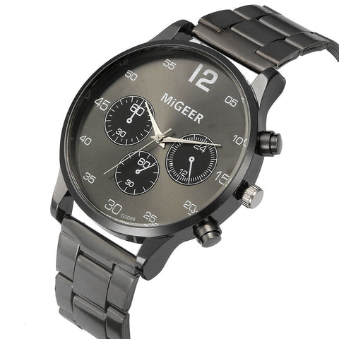 Crystal Stainless Steel Analog Watch