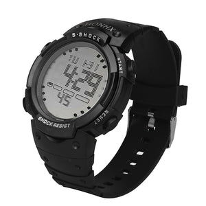 Waterproof LCD Digital Rubber Watch