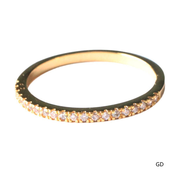 Micro Pave Zircon Ring  Tail Ring