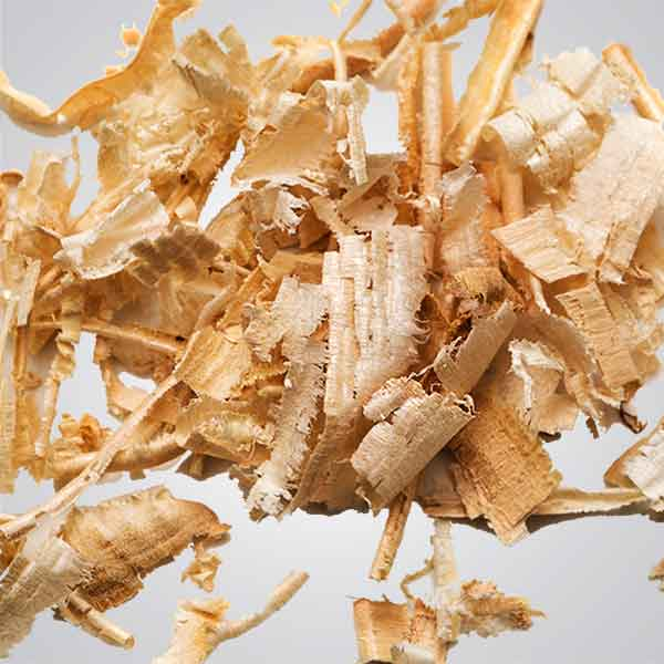 Photo of cedar sawdust shavings
