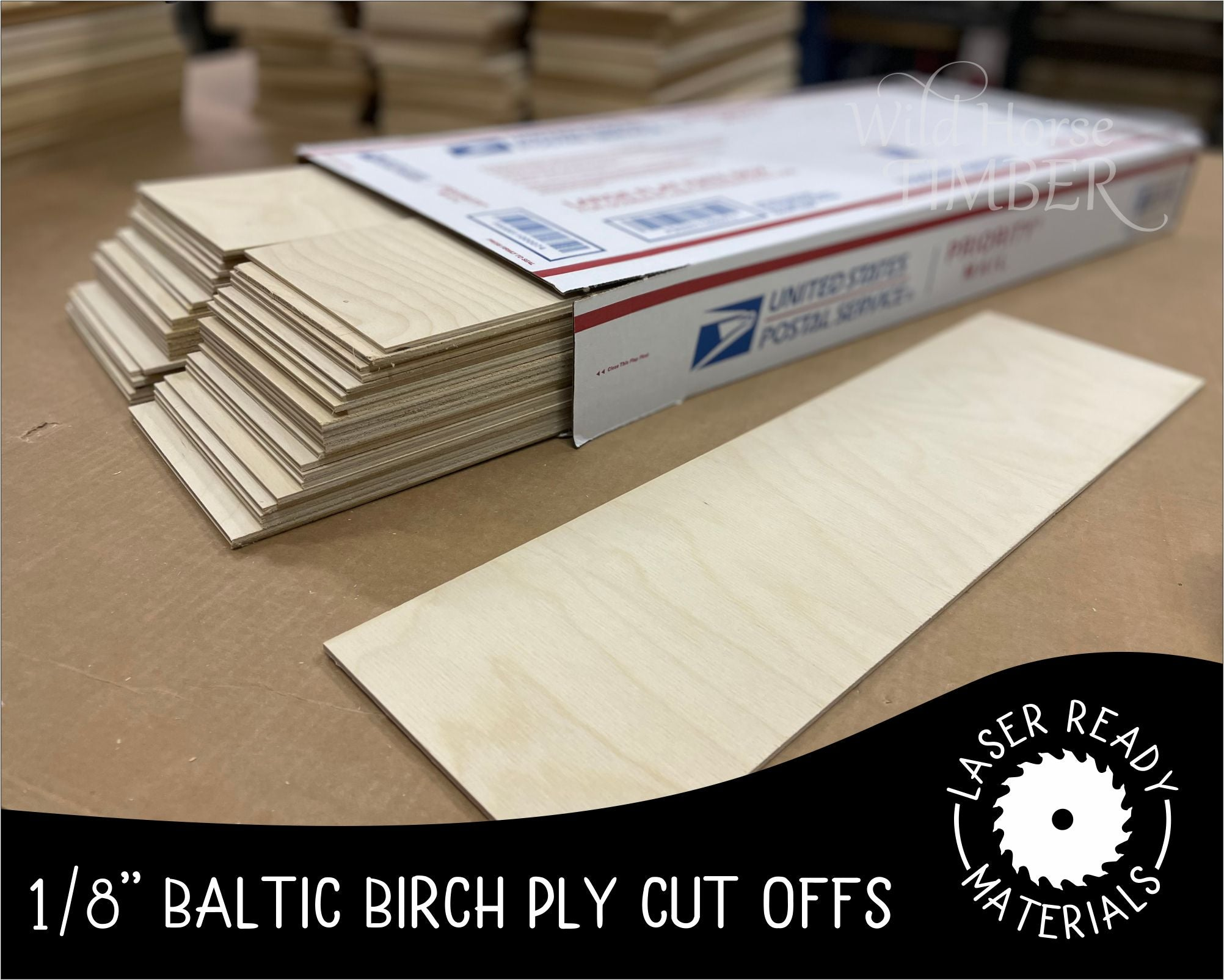 "1/8"" Baltic Birch Ply Cut Offs - 44 Sheets - Wild Horse Timber"