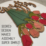 Load image into Gallery viewer, Umbrella Tulip Sign | Laser Cut File