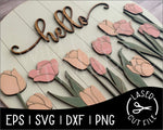 Load image into Gallery viewer, Round Spring Tulip Sign | Laser Cut File - Wild Horse Timber
