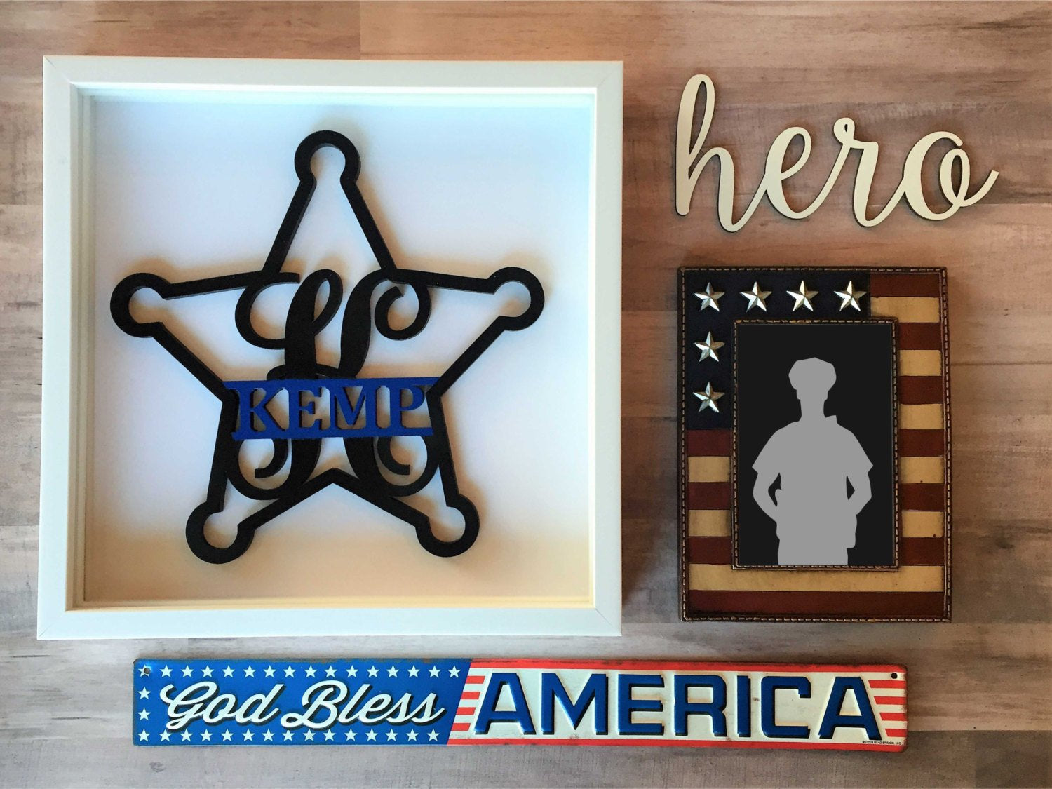 Police Sheriff Deputy Badge Cutout Laser SVG Cut File for Glowforge Epilog Projects Laser Cutting Download