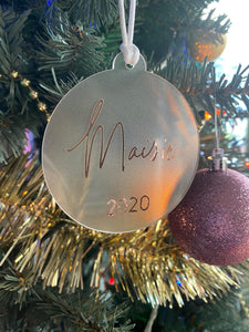 Personalised Acrylic Baubles