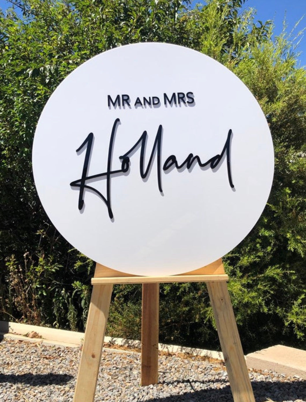 90cm Round Acrylic Welcome Sign