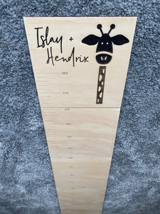 Personalised Growth Chart - Giraffe