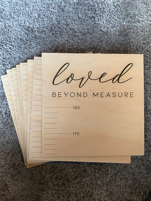 Personalised Growth Chart - Loved beyond measure