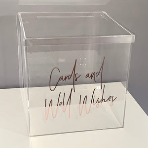 32cm Clear Acrylic Wishing Well with lid