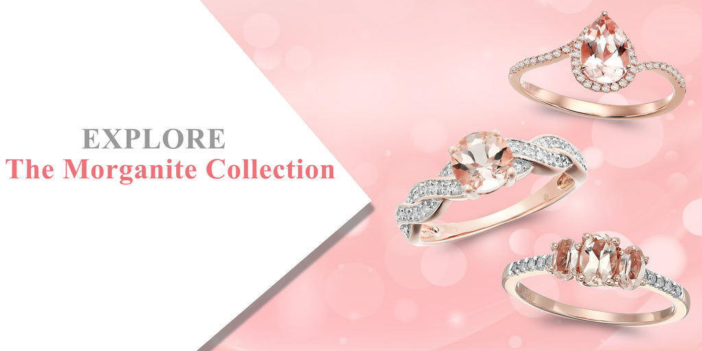 morganite jewelry,rose gold rings, rings for women, engagement rings, wedding rings, diamond rings, diamond rings for women