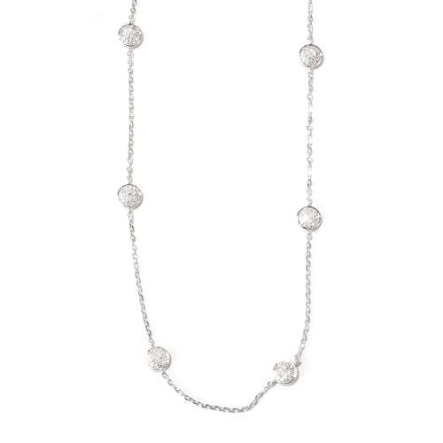 Pinctore Platinum o/Silver 1.31ctw Diamond Necklace 24'L - pinctore