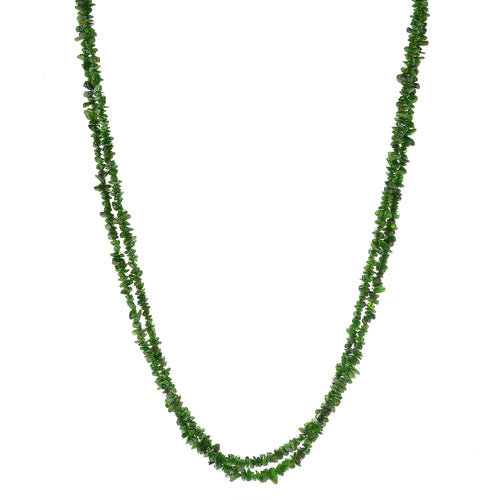 "Pinctore Sterling Silver 80"" Chrome Diopside Endless Beaded Necklace - pinctore"