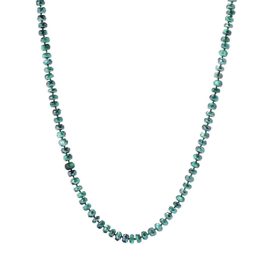 "Pinctore 35"" Green Moonstone Endless Beaded Necklace"