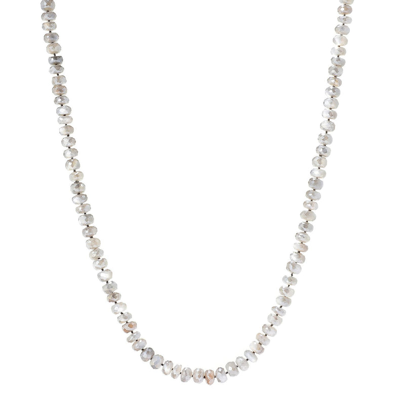 "Pinctore 35"" Grey Moonstone Endless Beaded Necklace - pinctore"