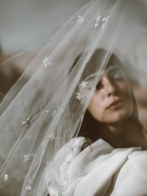 @margauxbrooke stars beaded wedding veil new phrenology