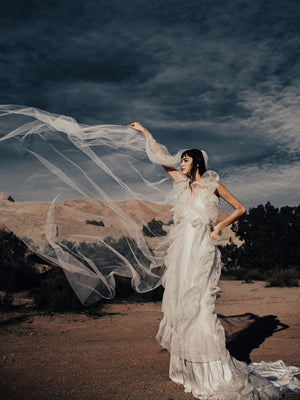 @margauxbrooke Odylyne the ceremony dress cathedral wedding veil