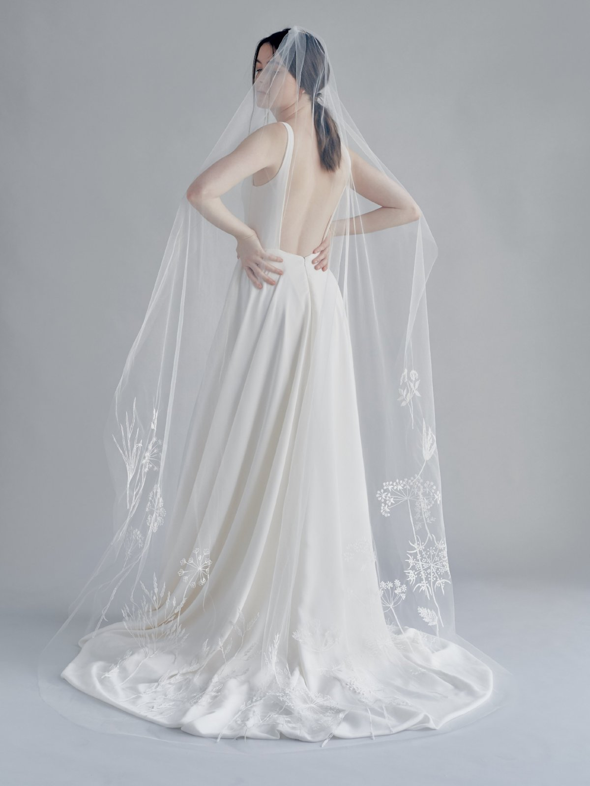 Wildflowers bridal veil olivia the wolf bhldn embroidered