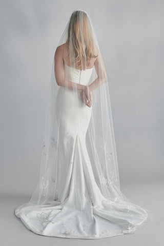ANTIMONY EMBROIDERED BEADED VEIL