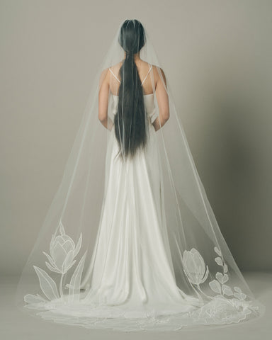 BLOOM ORGANZA .- ALLI KOCH WEDDING VEIL COLLAB - New Phrenology wedding veils