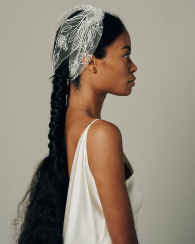 NATURA HAIR WRAP - New Phrenology wedding veils