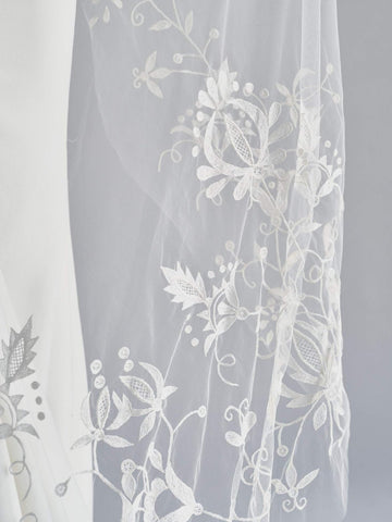 embroidered bridal veil floral