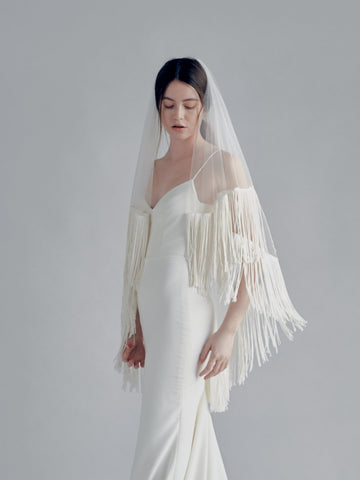 fringe wedding veil