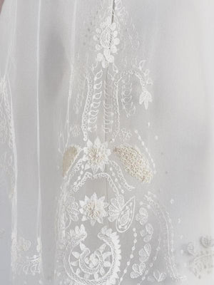 ornament embroidered boho bridal veil olivia the wolf octavia bhldn