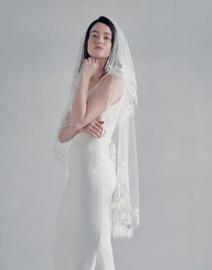 embroidered bohemian bridal veil