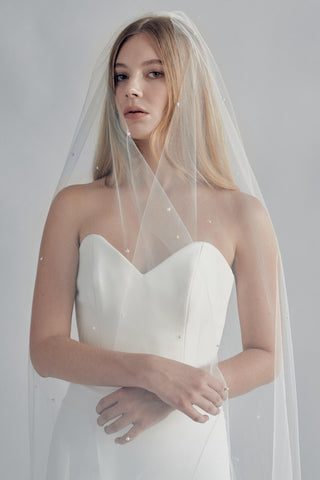 SPIRIT PEARL BEADED VEIL - New Phrenology wedding veils