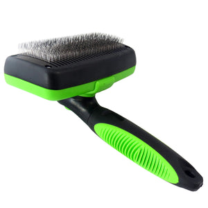 Pet Cleaning Slicker Comb Brush Pet Hair Grooming Auto Scaling Stainless Steel Comb for Long or Short Haired Pets