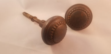 Victorian steel knob pair with post