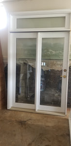 "Door with fixed sidelight and transom.  59"" x 96"" rough opening size"