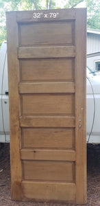"32"" x 79"" Raised 5 panel pine door"