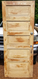 "32 1/2"" x 79"" Raised 5 panel pine door"